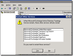 Process msexchangeadtopology when updating security for a remote procedure call